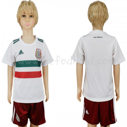 Mexico Kids 2018 World Cup Short Sleeve Away Soccer Jersey