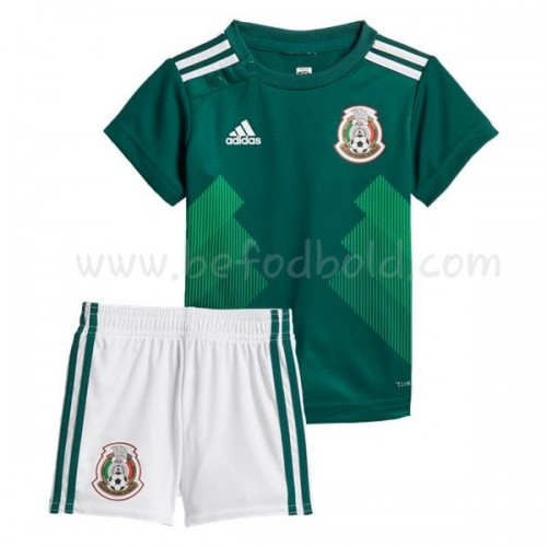 Mexico Kids 2018 World Cup Short Sleeve Home Soccer Jersey