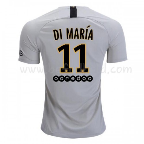 Paris Saint Germain PSG 2018-19 Di Maria 11 Short Sleeve Away Soccer Jersey