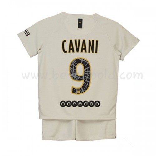 Paris Saint Germain PSG Kids 2018-19 Edinson Cavani 9 Short Sleeve Away Soccer Jersey
