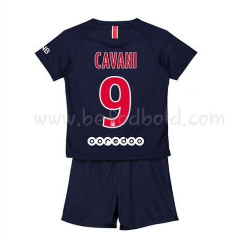 Paris Saint Germain PSG Kids 2018-19 Edinson Cavani 9 Short Sleeve Home Soccer Jersey