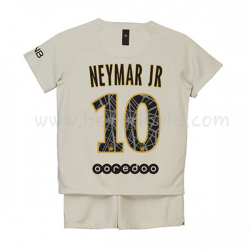 Paris Saint Germain PSG Kids 2018-19 Neymar Jr 10 Short Sleeve Away Soccer Jersey