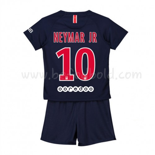 Paris Saint Germain PSG Kids 2018-19 Neymar Jr 10 Short Sleeve Home Soccer Jersey