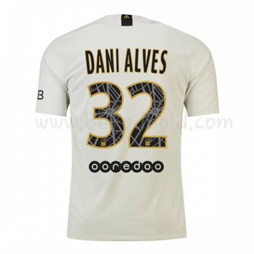 Paris Saint Germain Psg 2018-19 Dani Alves 32 Short Sleeve Away Soccer Jersey