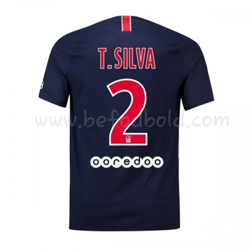 Paris Saint Germain Psg 2018-19 Thiago Silva 2 Short Sleeve Home Soccer Jersey