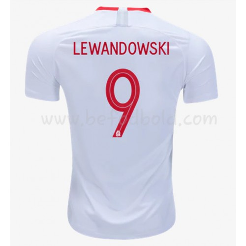 Poland 2018 Robert Lewandowski 9 Short Sleeve Home Soccer Jersey