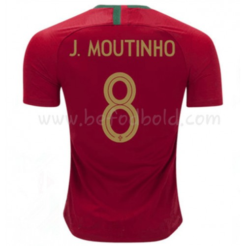 Portugal 2018 Joao Moutinho 8 Short Sleeve Home Soccer Jersey