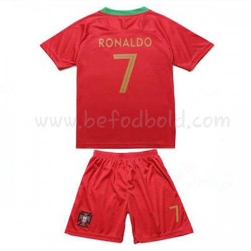 Portugal Kids 2018 World Cup Cristiano Ronaldo 7 Short Sleeve Home Soccer Jersey