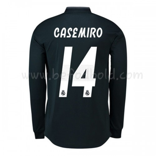 Real Madrid 2018-19 Carlos Casemiro 14 Long Sleeve Away Soccer Jersey