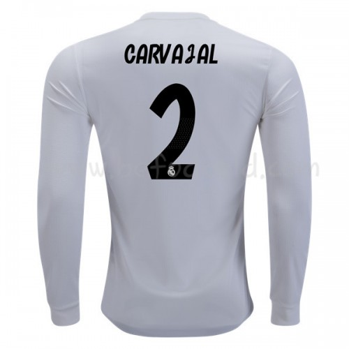 Real Madrid 2018-19 Dani Carvajal 2 Long Sleeve Home Soccer Jersey