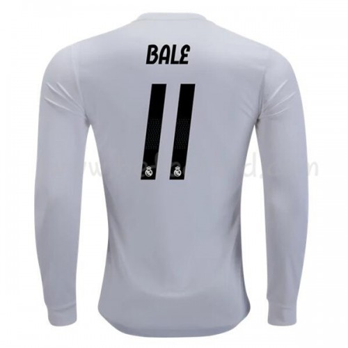 Real Madrid 2018-19 Gareth Bale 11 Long Sleeve Home Soccer Jersey