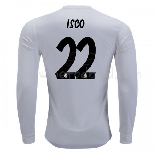 Real Madrid 2018-19 Isco Suarez 22 Long Sleeve Home Soccer Jersey