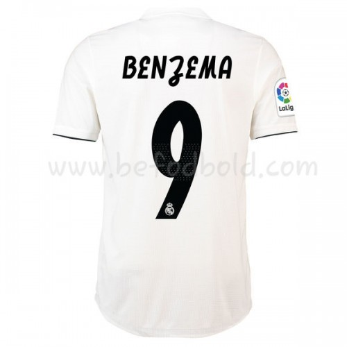Real Madrid 2018-19 Karim Benzema 9 Short Sleeve Home Soccer Jersey
