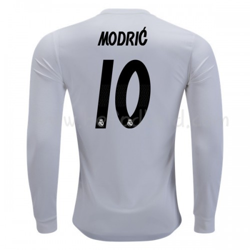 Real Madrid 2018-19 Modric 10 Long Sleeve Home Soccer Jersey