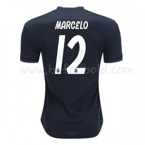 Real Madrid 2018-19 Marcelo Junior 12 Short Sleeve Away Soccer Jersey