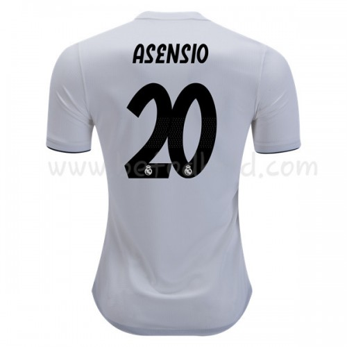Real Madrid 2018-19 Marco Asensio 20 Short Sleeve Home Soccer Jersey