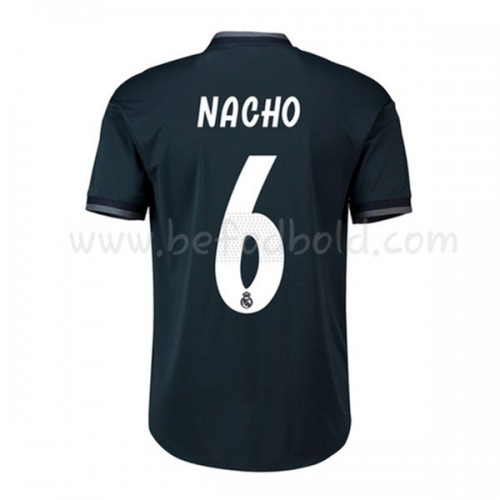 Real Madrid 2018-19 Nacho Fernandez 6 Short Sleeve Away Soccer Jersey