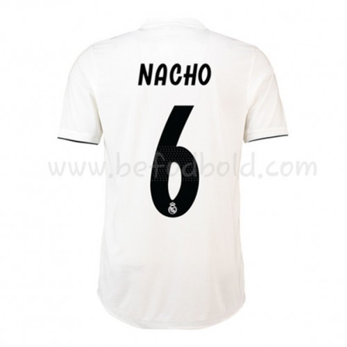 Real Madrid 2018-19 Nacho Fernandez 6 Short Sleeve Home Soccer Jersey