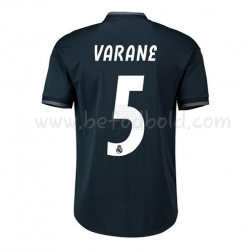 Real Madrid 2018-19 Raphael Varane 5 Short Sleeve Away Soccer Jersey
