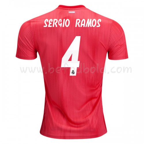 Real Madrid 2018-19 Sergio Ramos 4 Short Sleeve Third Soccer Jersey