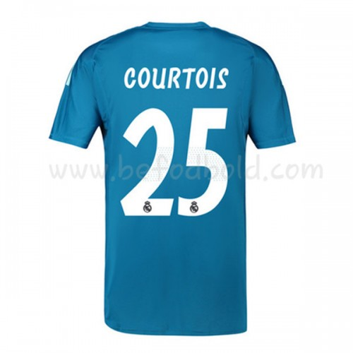 Real Madrid 2018-19 Thibaut Courtois 25 Goalkeeper Short Sleeve Away Soccer Jersey