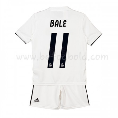 Real Madrid Kids 2018-19 Gareth Bale 11 Short Sleeve Home Soccer Jersey