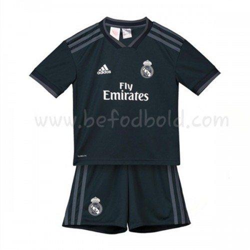 Real Madrid Kids 2018-19 Short Sleeve Away Soccer Jersey