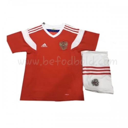 Russia Kids 2018 World Cup Short Sleeve Home Soccer Jersey
