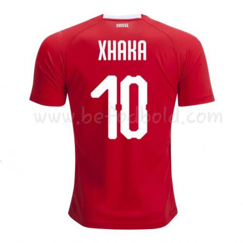 Switzerland 2018 Xhaka 10 Short Sleeve Home Soccer Jersey