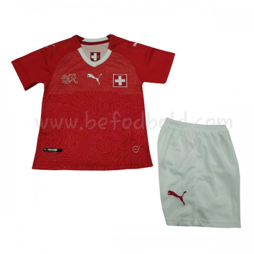 Switzerland Kids 2018 World Cup Short Sleeve Home Soccer Jersey