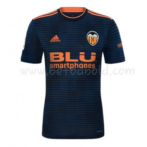 Valencia 2018-19 Short Sleeve Away Soccer Jersey