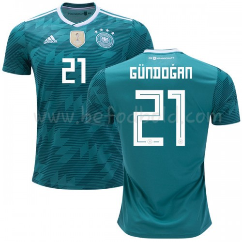 Germany 2018 Ilkay Gundogan 21 Short Sleeve Away Soccer Jersey