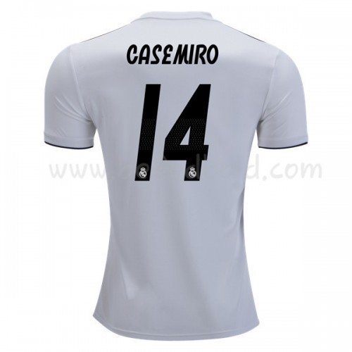 Real Madrid 2018-19 Carlos Casemiro 14 Short Sleeve Home Soccer Jersey